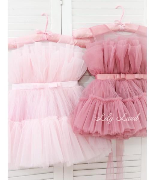 Комплект нарядных платьев Барби цвет чайная роза и нежно-розовый