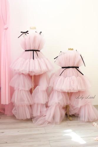 Комплект нарядных платьев Барби со шлейфом, цвет бежевая пудра