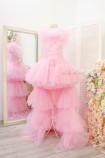 Детское нарядное платье Барби со шлейфом, цвет розовый