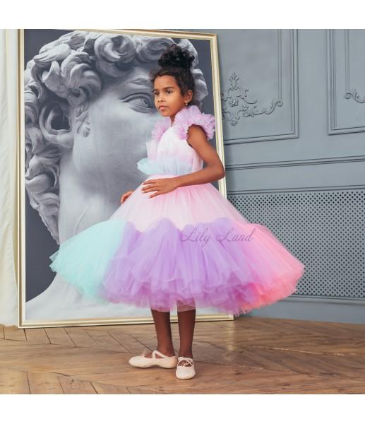 Детское платье Белль, расцветка MyLittlePonny