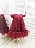 Детское платье Белль, цвет бордо