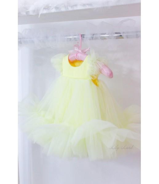 Детское платье Белль, цвет бледно-желтый