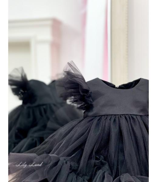 Детское платье Белль, цвет черный