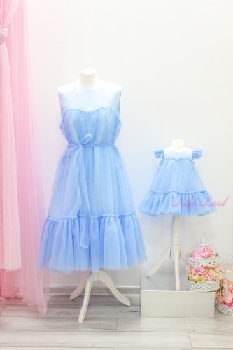 Комплект платьев Белль, цвет голубой