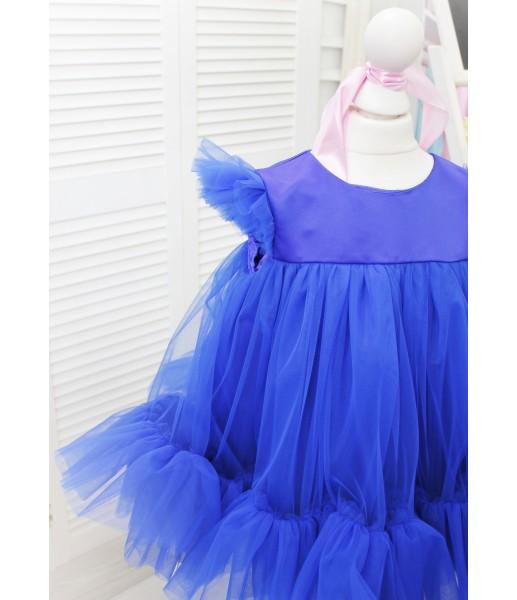 Детское платье Белль, цвет синий