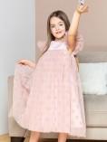 Детское платье Белль, цвет пудра в горох