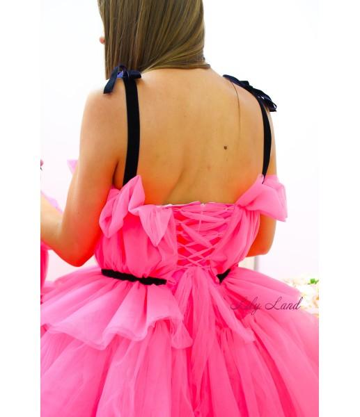 Комплект нарядных платьев Бонни цвет малиновый