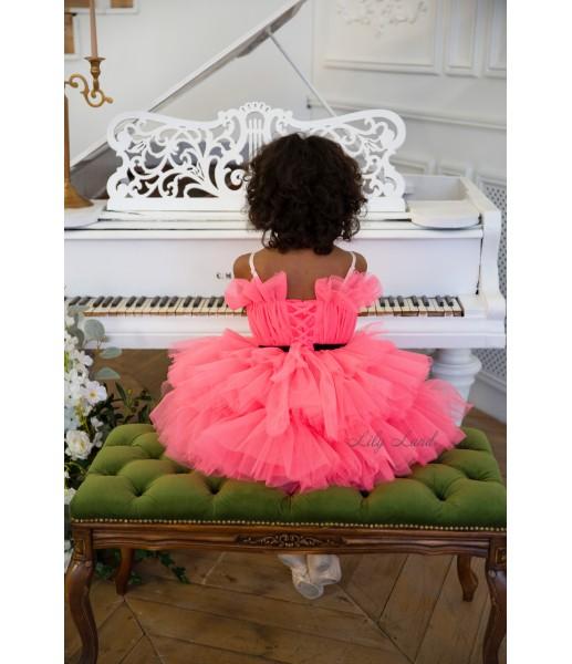 Детское нарядное платье Бонни, цвет коралловый