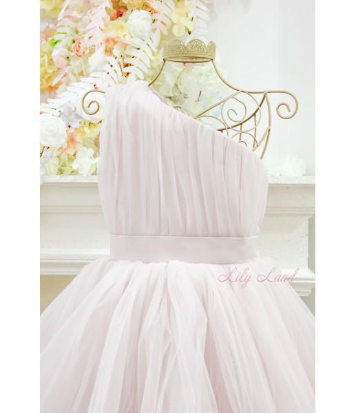 Детское нарядное платье Дейзи, цвет бледная пудра