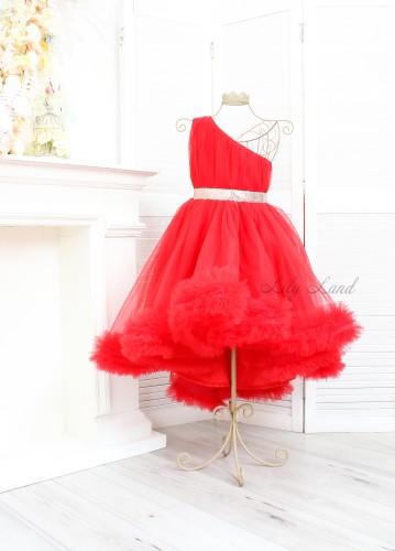 Детское нарядное платье Дейзи, цвет красный
