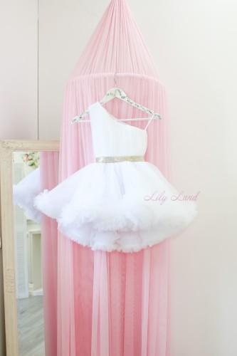 Детское нарядное платье Дейзи, цвет белый