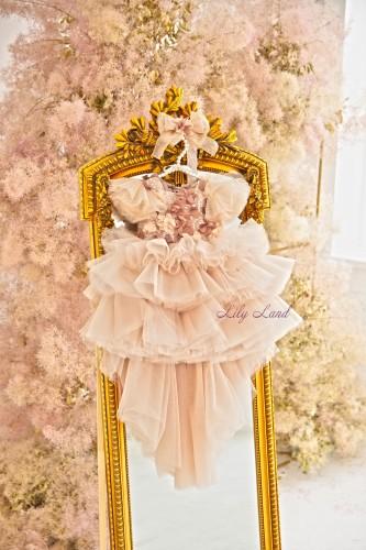 Детское нарядное платье Флори, цвет беж