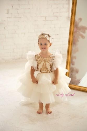 Детское нарядное платье Келли, цвет белый
