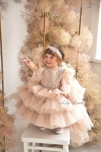 Детское нарядное платье Келли, цвет беж