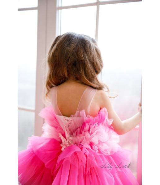 Детское нарядное платье Хлоя, цвет барби