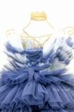 Детское нарядное платье Хлоя, цвет темно-синий
