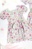 Комплект летних платьев в цветочный принт, цвет фиолетово-розовый