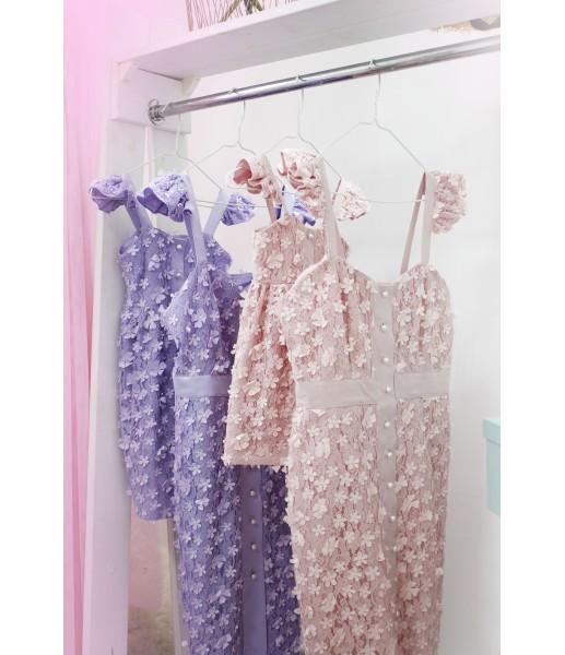 Комплект летних платьев из гипюра 3Д Анастасия
