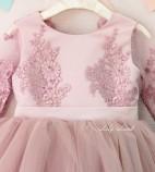 Детское нарядное платье Мелисса, цвет пудра