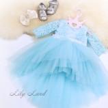 Детское нарядное платье Мелисса, цвет голубой