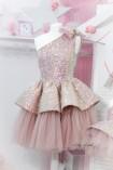 Комплект нарядных платьев Ненси, цвет пудра