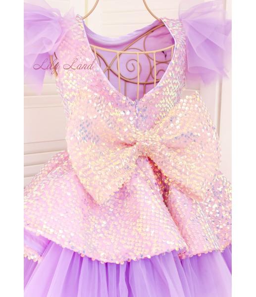 Детское нарядное платье Ненси, цвет лаванда с крылышками