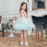 Детское нарядное платье Ненси, цвет голубой