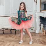 Детское нарядное платье Ненси, цвет аллый