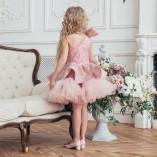 Детское нарядное платье Ненси, цвет пудровый