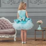 Детское нарядное платье Ненси, цвет тиффани