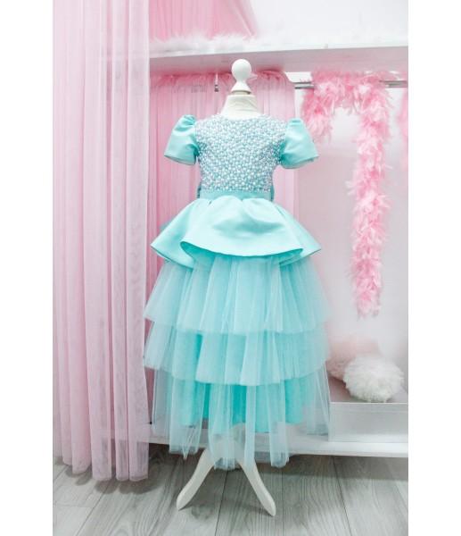Детское платье Нинель, цвет мята