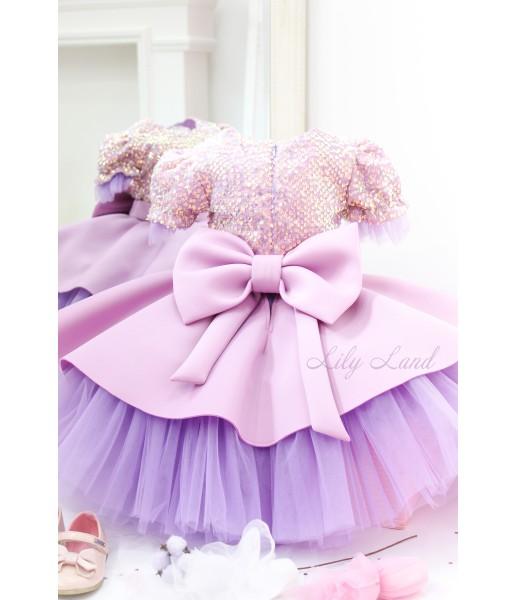 Детское платье Нинель, цвет лаванда