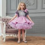 Детское платье Нинель, неопрен и глитер лаванда