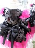 Детское платье Нинель, цвет малина с черным