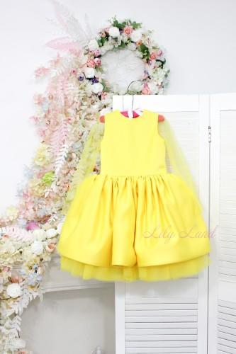 Детское нарядное платье Камелия, цвет желтый