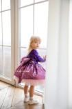 Детское нарядное платье Камелия, цвет розово - фиолетовый