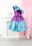 Комплект нарядных платьев Оливия, цвет бирюзово-малиновый