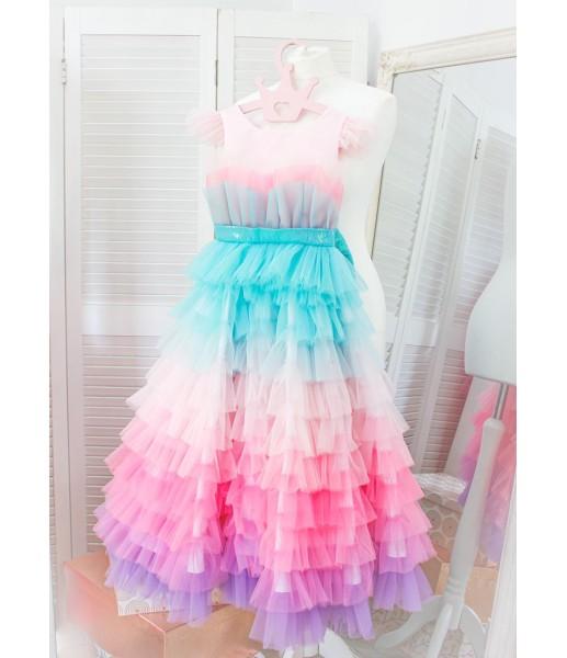 Детское платье Ракушка, цвет розовый с градиентом