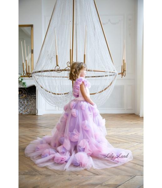 Детское нарядное платье Рапунцель, цвет розовый