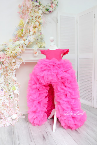 Детское нарядное платье Роза, цвет малина