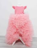 Детское нарядное платье Роза, цвет коралл
