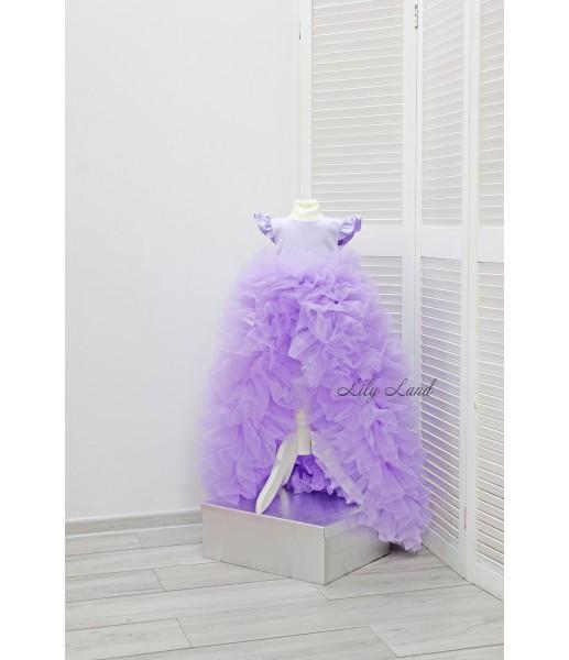 Детское нарядное платье Роза, цвет лаванда