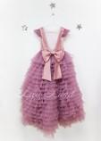 Детское нарядное платье Роза, цвет чайная роза