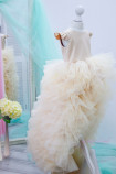 Детское нарядное платье Роза, цвет беж