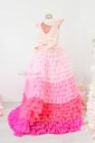 Детское нарядное платье Роза, цвет пудра с градиентом