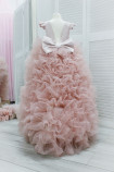 Детское нарядное платье Роза, цвет темная пудра