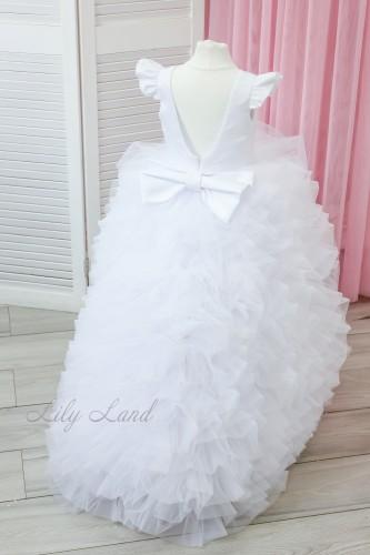 Детское нарядное платье Роза, цвет белый
