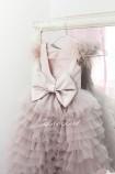 Детское нарядное платье Роза, цвет шампань