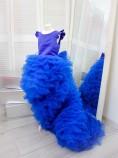 Детское нарядное платье Роза, цвет синий