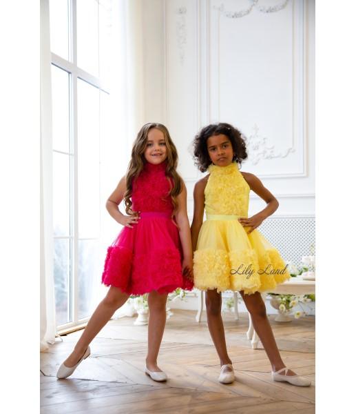 Детское нарядное платье Рози, цвет желтый